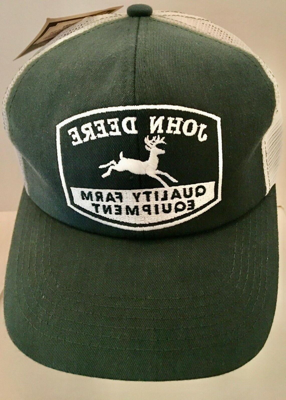 vintage teal green white mesh trucker hat