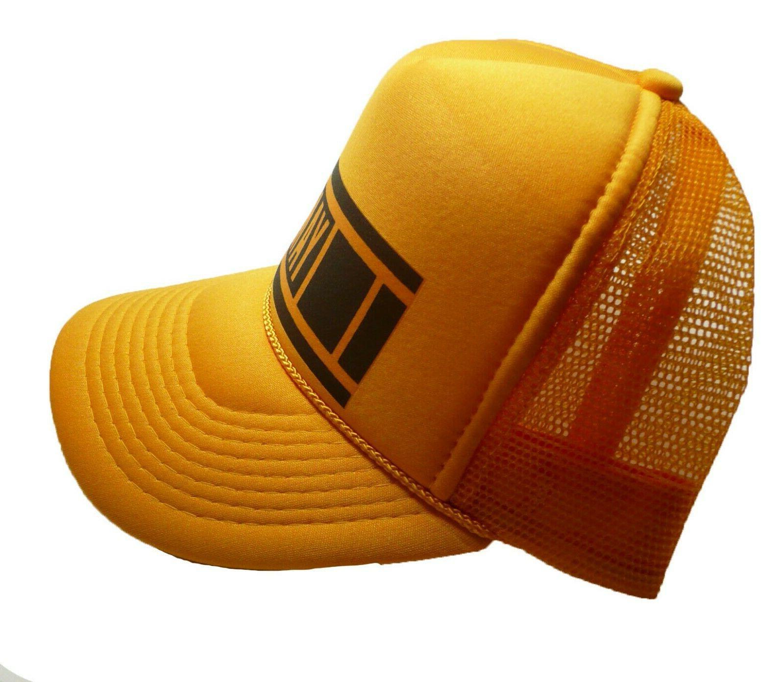 Vintage 80's Hat racing hat cap yellow New
