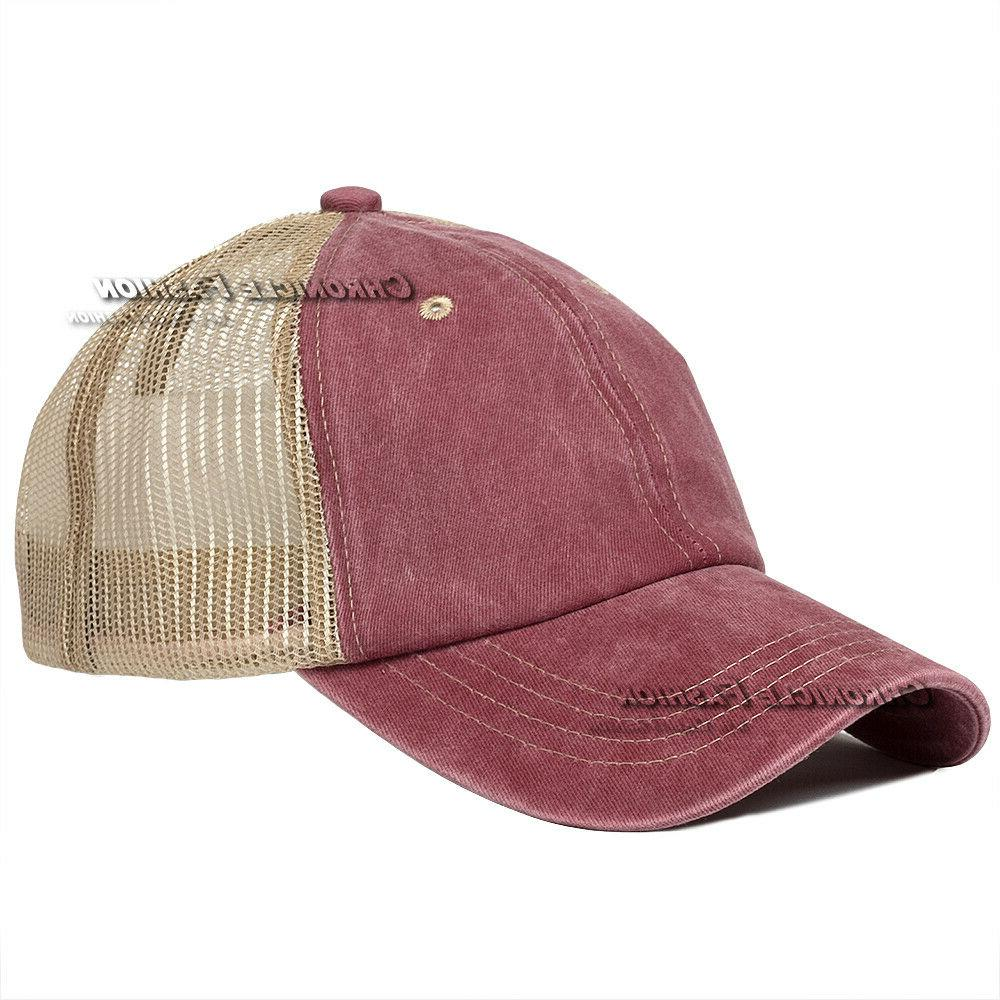 Washed Mesh Cap Polo Caps