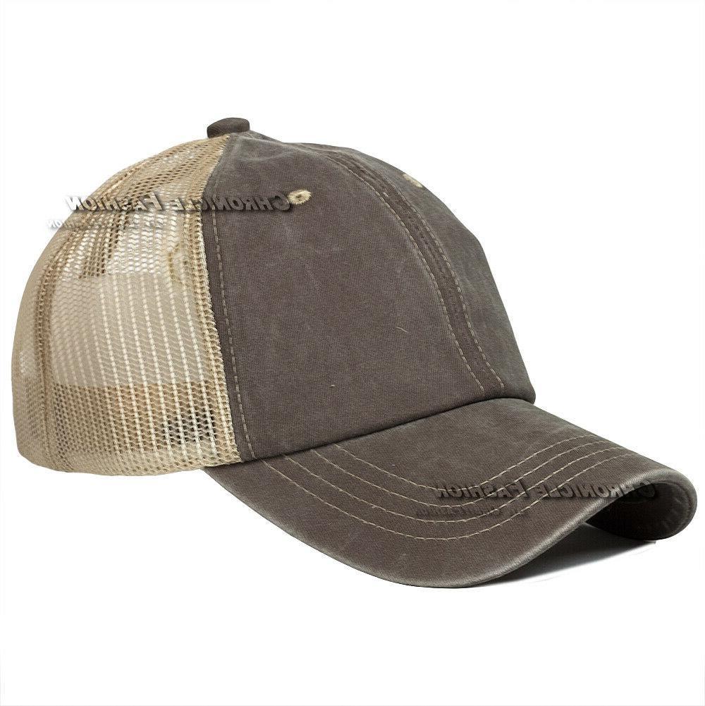 Washed Trucker Mesh Cap Caps