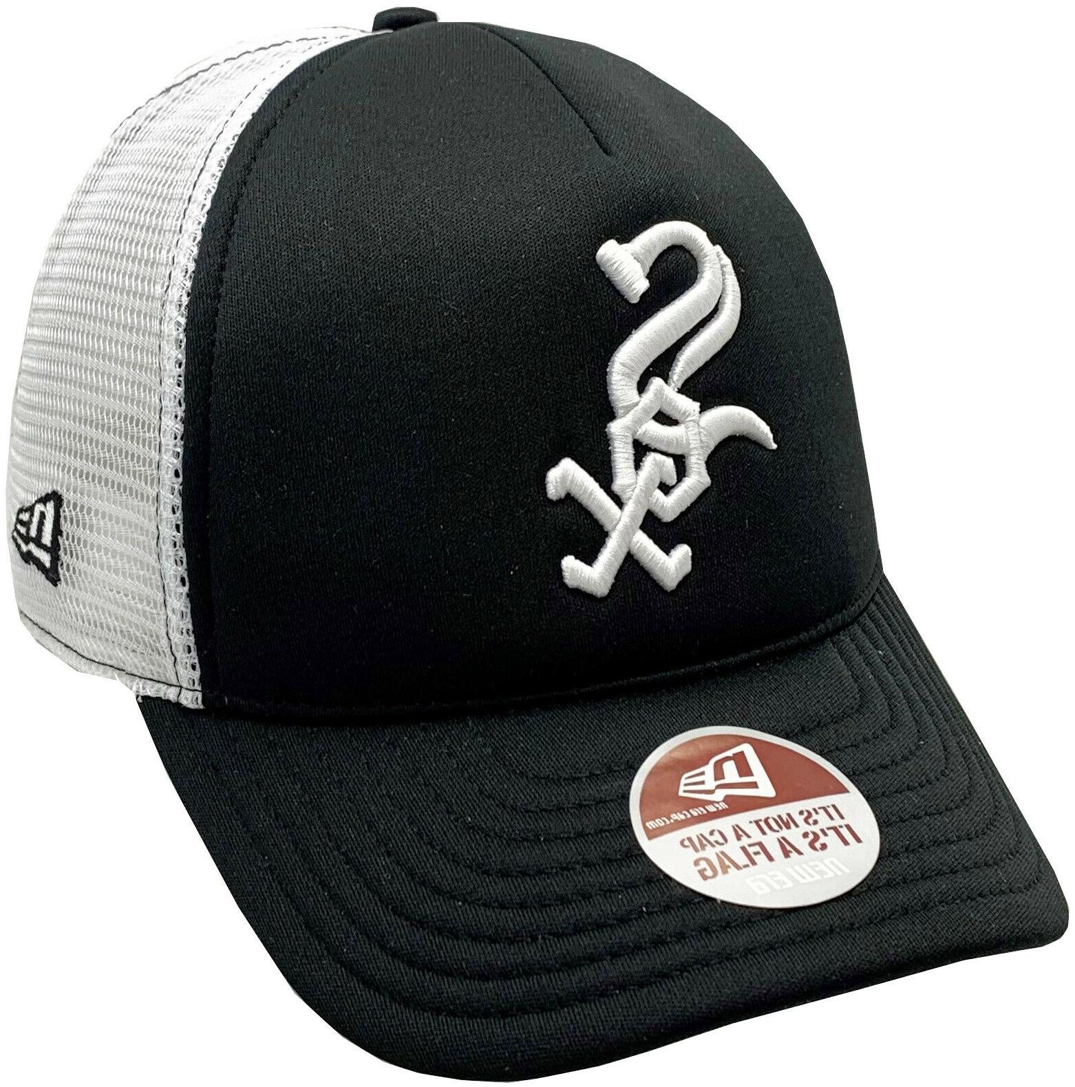 white sox trucker mesh fitted hat 2
