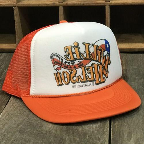 Willie Country Trucker Hat Vintage 80's Style Snapback Org