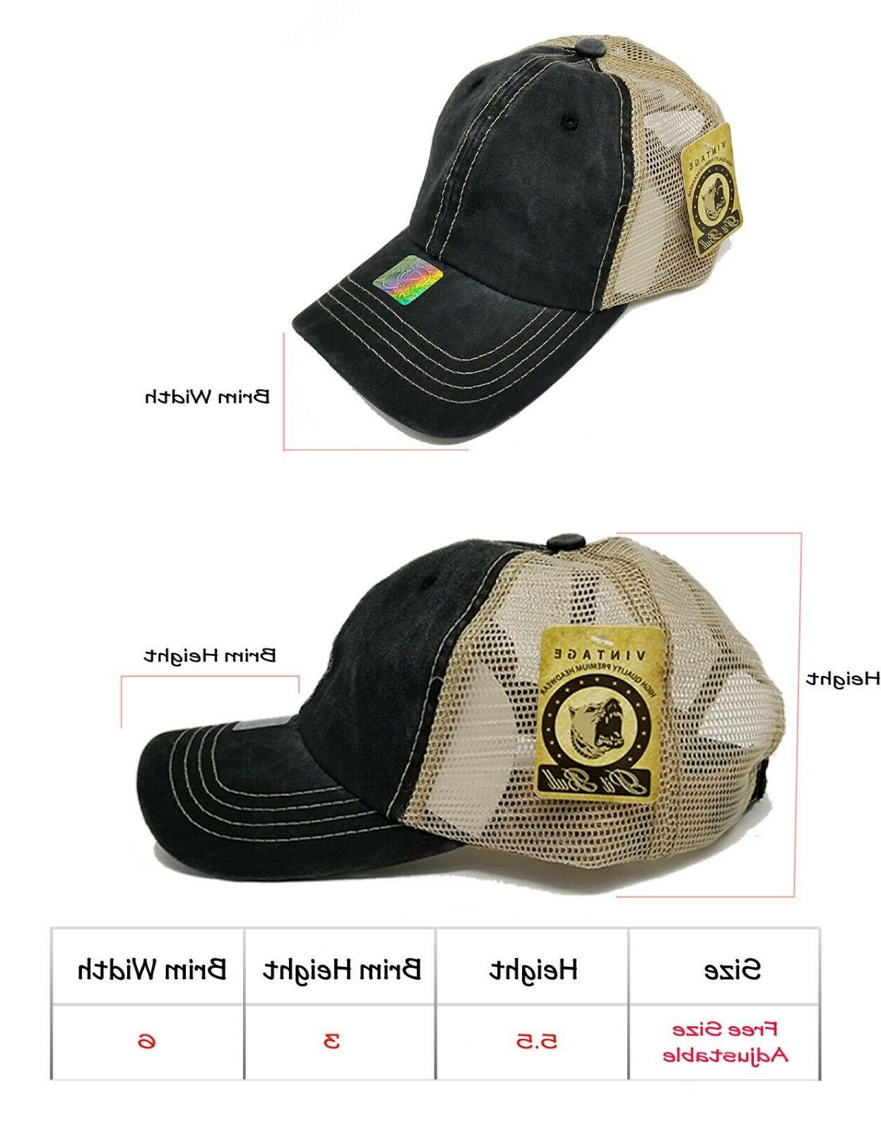 Women Hat Pigment Low Profile Washed Mesh Trucker Dad Sun