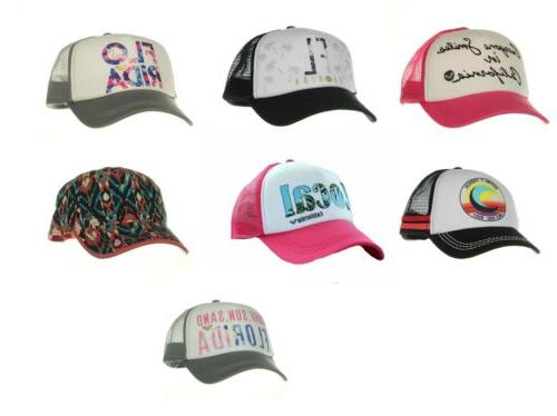 women s trucker hat mesh back snap
