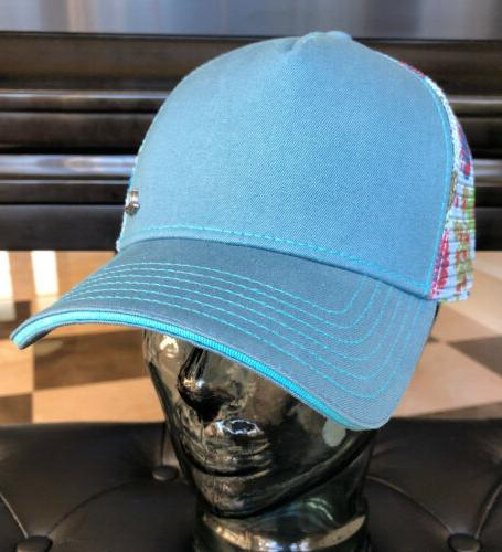 Womens PRANA Idalis Trucker Hat/Cap Yoga Teal,