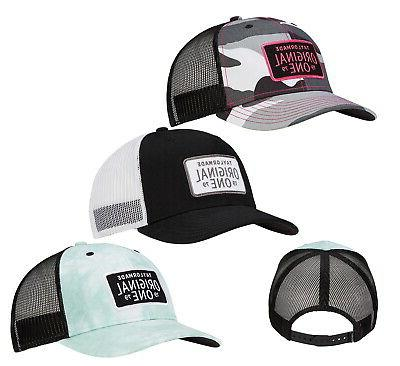 womens original one trucker hat snapback cap