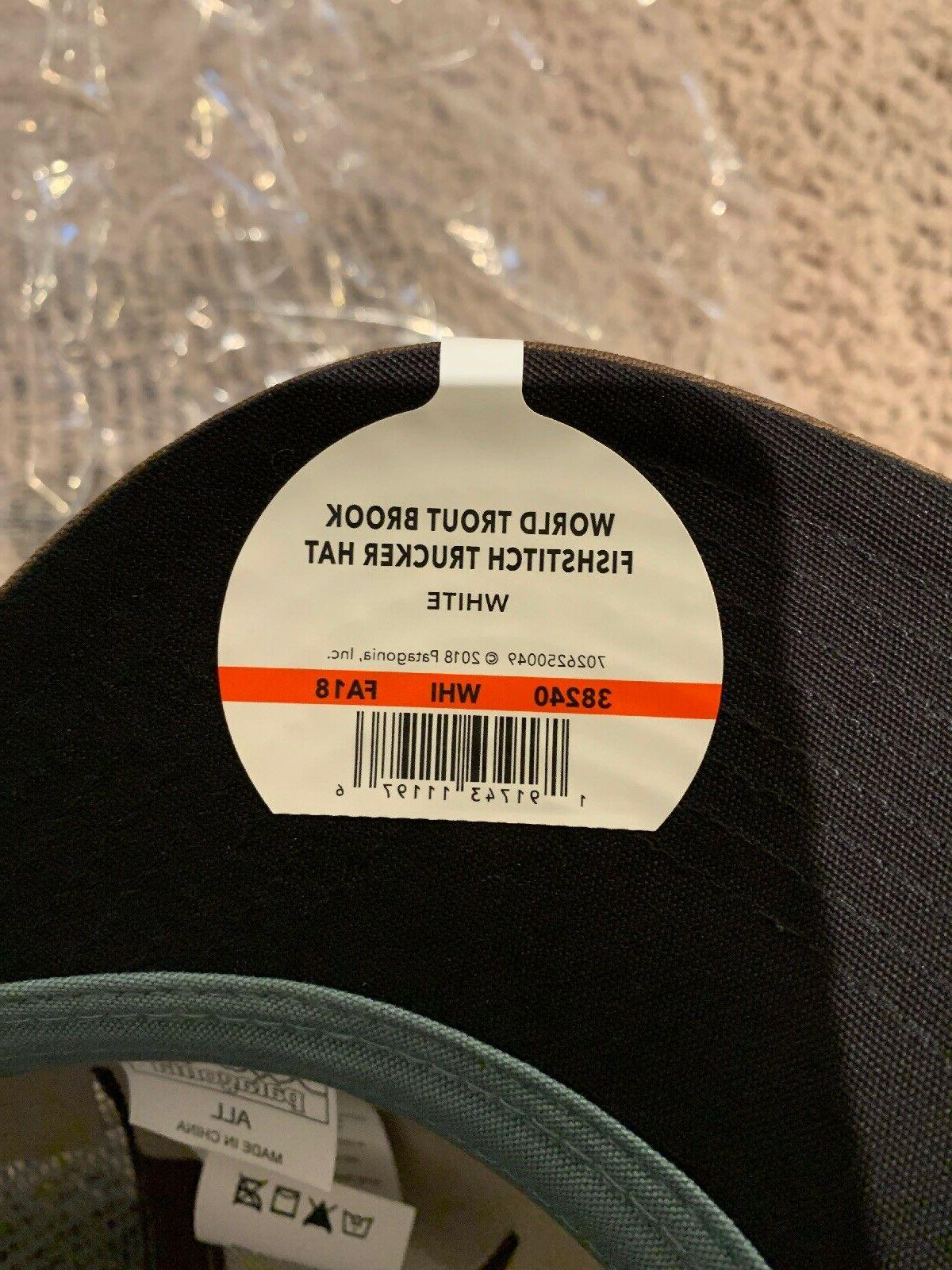 Patagonia World Fish Mid Crown Fit Gray NWT