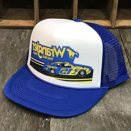 wrangler racing team vintage 80s trucker hat