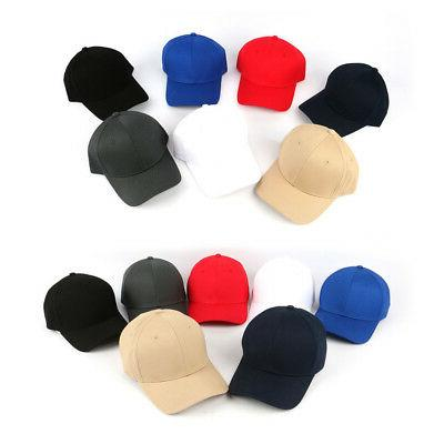 XL~2XL 60~63Cm Unisex Big Plain Baseball Hats