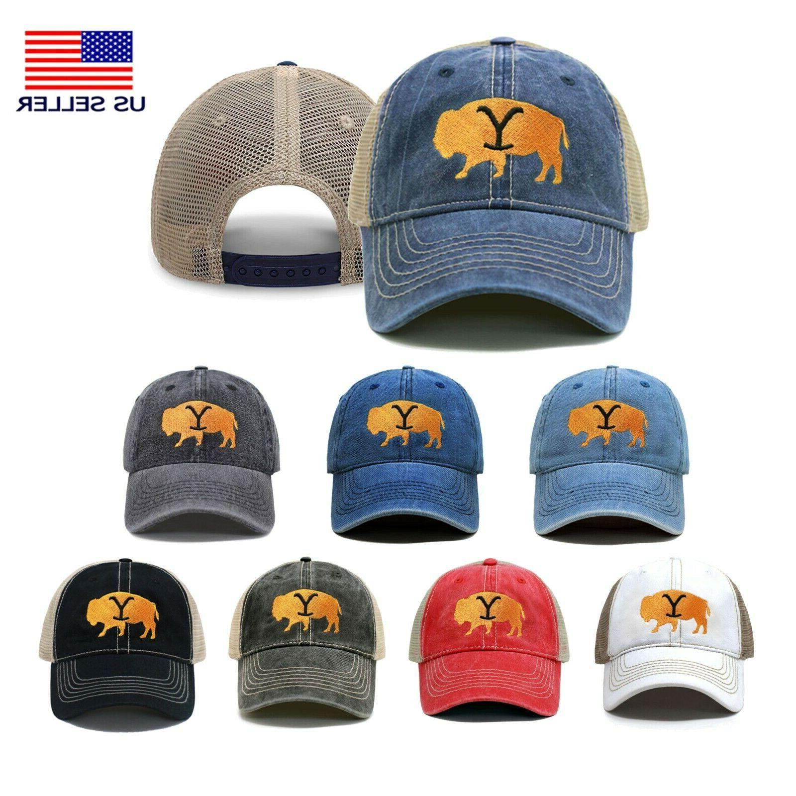 yellowstone buffalo trucker hat embroidered dad hat