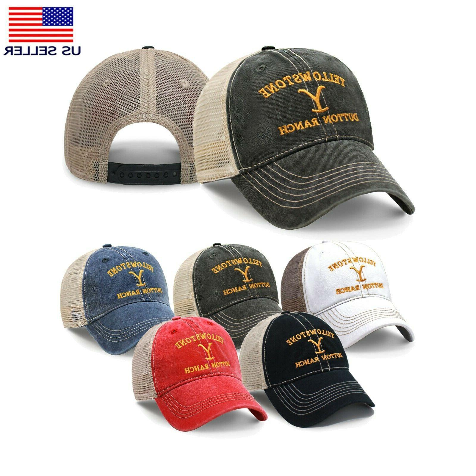yellowstone dutton ranch trucker hat embroidered dad