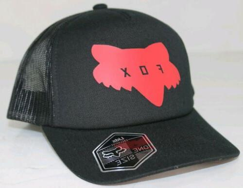 youth traded trucker hat black red snapback