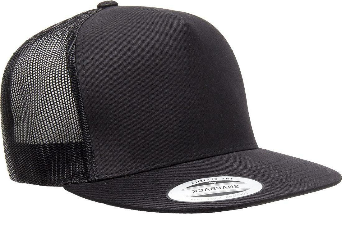 yupoong classic trucker mesh hat blank 5