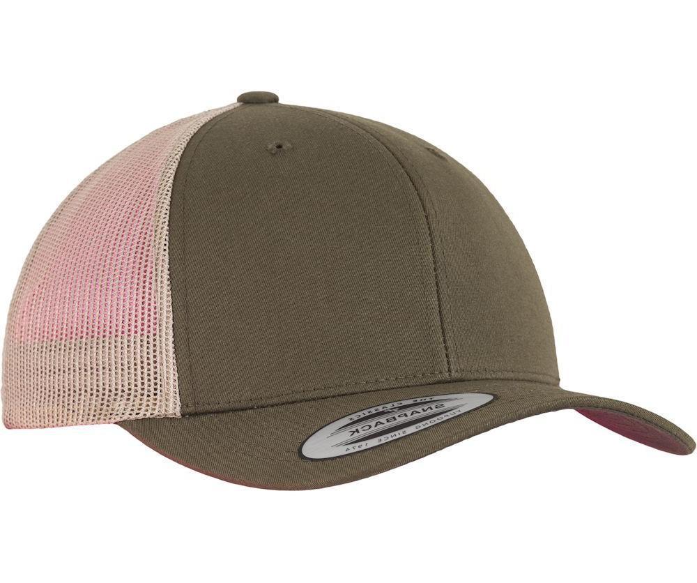 Yupoong Blank Retro Cotton Mesh Cap Snapback Hat 6606MC
