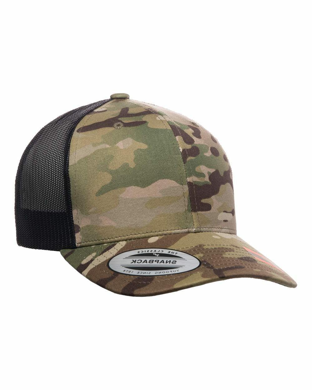 Cotton Trucker Snapback Hat 6606T