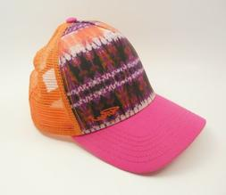 la viva trucker cap hat orange purple