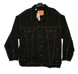 Levis Trucker Jacket 4XL Mens Black Jean Jacket NWT!!