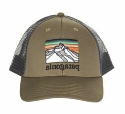 Patagonia Line Logo Ridge Lopro Trucker Hat - Sage Khaki - S