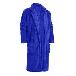 Toimothcn Men Loose Warm Plush Lapel Cardigan Double-Sided F