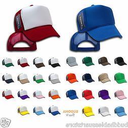 LOT OF 6 DECKY NEW TRUCKER HAT HATS CAP CAPS TWO TONE BLANK