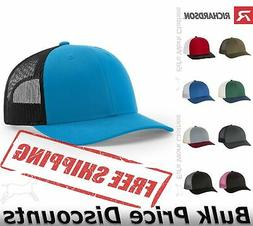 Richardson Low Profile Trucker Cap Hat 115 Blank Plain Ball
