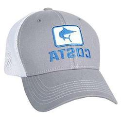 Costa Del Mar Marlin Fitted Stretch Trucker Hat, Gray/White