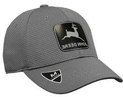 112f94b3b7475 John Deere Memory Fit -Vintage Reflect Hat Charcoal One Size