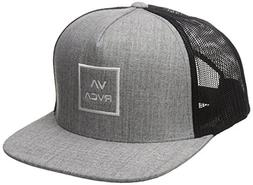 RVCA Men's All The Way Trucker HAT, Heather Grey, One Size