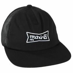 Brixton Men's Black Blaine Ball Cap Trucker Hat Logo Basebal