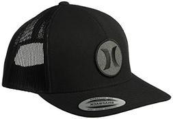 Hurley Men's Black Textures Patch Trucker Baseball Cap, Rips