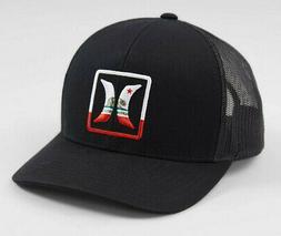 Hurley Men's California Cali Bear Trucker Hat Cap - Black