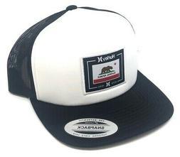 Hurley Men's California Republic Trucker Hat Cap - Black/Whi