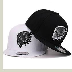Men's Chief Head Print Snapback Adjustable Mesh Trucker Hat