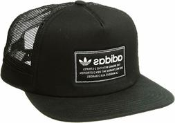 adidas Men's Originals Patch Trucker Snapback Cap Hat - Blac