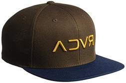 RVCA Men's Twill Snapback Hat, Brown, EA