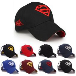 Men Women Superman Baseball Cap Snapback Hat Hip-Hop Adjusta