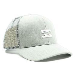 Billabong Mens All Day Trucker Snapback Hat Heather Grey One