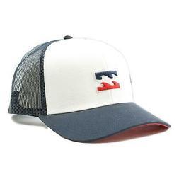 Billabong Mens All Day Trucker Snapback Hat White Navy One S