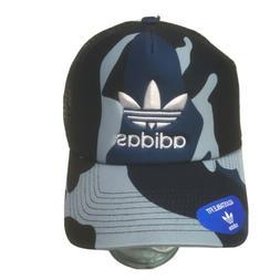 adidas Originals Mens Blue Camouflage Mesh Trucker Hat Cap O