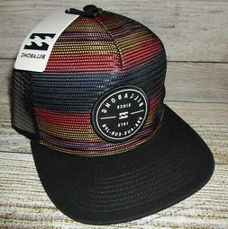 mens trucker black snapback adjustable hat cap