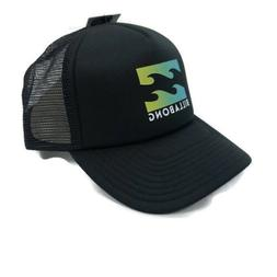 mens trucker cap hat snapback wave black