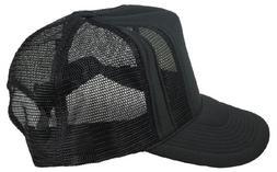 Mens Two Tone Split Mesh Cap Adjustable Hat Plain Blank in B