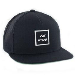 Rvca Mens Va All The Way Trucker Hat, Black, One Size