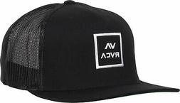 RVCA Mens VA Sport VA All The Way Trucker Snapback Hat - Bla