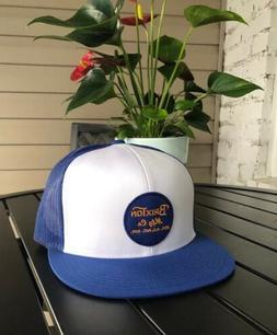 Brixton Mens Wheeler Mesh Cap Snapback Hat Washed Blue And W