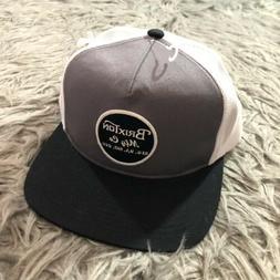 Brixton Mens Wheeler Mesh Cap Trucker Snapback Hat Gray Whit