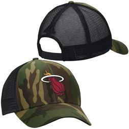 Miami Heat Adidas Camo and Black Trucker NBA Snapback Hat Su