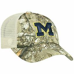 Michigan Wolverines Hat Cap Realtree Camo Snapback Trucker M