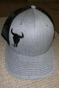 montana shirt company bison trucker hat black