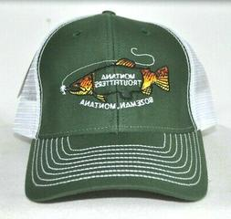 *MONTANA TROUTFITTERS* Fly fishing Trucker mesh Ball cap hat